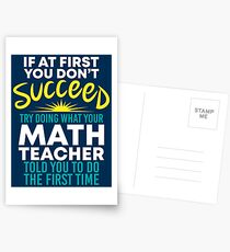 If At First You Dont Succeed - Funny Teacher Gift Postkarten