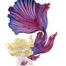 Purple and Pink Mermaid by Scott Keenan