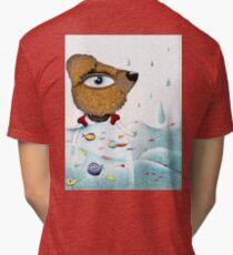 Teddy bear - Teddy bears Cuddly toys - Waves Rain Tsunami Tri-blend T-Shirt
