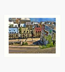 Tilted Toy Town Kunstdruck