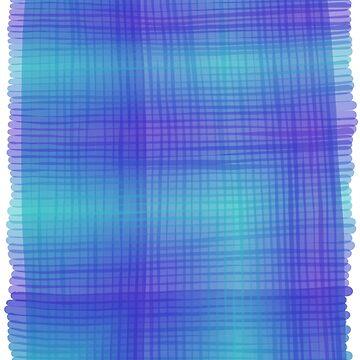 Sheer plaid in blue by MaijaR