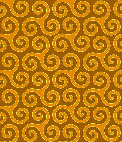Celtic Trinity Spirals In Golds