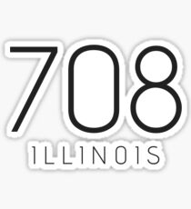 ILLINOIS 708 • BLACK Sticker