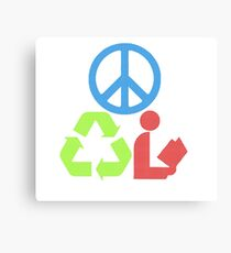 RGB Peace Recycle Read Canvas Print
