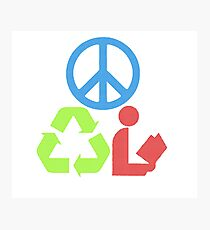 RGB Peace Recycle Read Photographic Print