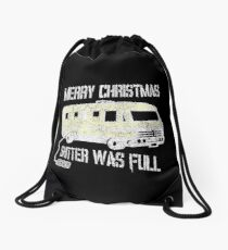 Merry Christmas Shitter Was Full Black Vintage  Drawstring Bag