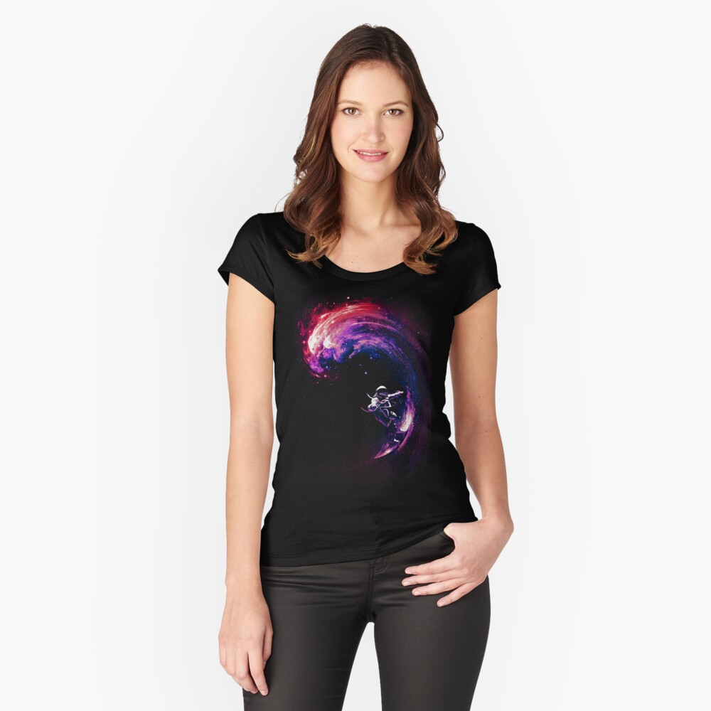 Space Surfing II Fitted Scoop T-Shirt