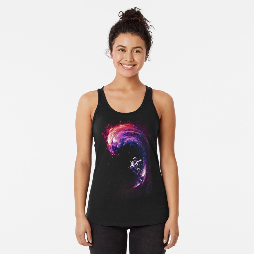 Space Surfing II Racerback Tank Top