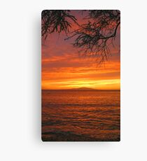Makena Landing Sunset - Maui Canvas Print