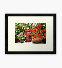 Garden Hydrant Framed Print