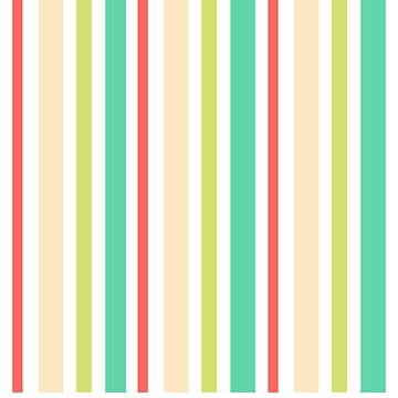 Awesome Pastel Shades - Vintage Stripes Pattern by PopArtdom