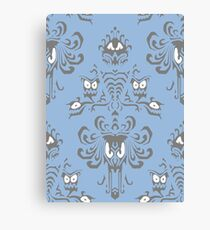 Blue Haunted Mansion Pattern Canvas Print