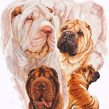 Chinese Shar Pei Medley by BarbBarcikKeith