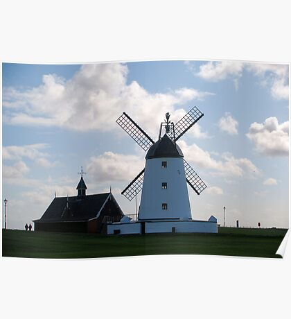 Lytham landmarks,lifeboat house and windmill Poster