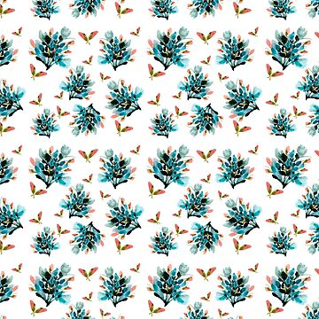 Vintage inspired watercolor floral pattern by luisanino
