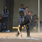 Umpire Dusting Home Plate  by Buckwhite