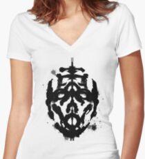 Inkblot Test, Verdict Psycho Women's Fitted V-Neck T-Shirt