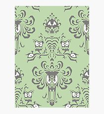 Green Haunted Mansion Pattern Photographic Print