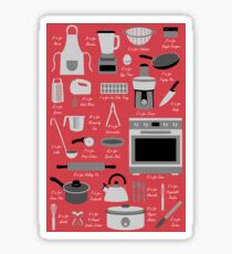 Kitchen Equipment Alphabet Sticker