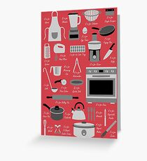 Kitchen Equipment Alphabet Greeting Card