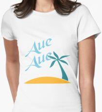 Aue Aue Tailliertes T-Shirt für Frauen