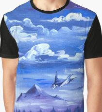 """Cotton Skies"" - Acrylic Painting Graphic T-Shirt"