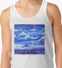 """Cotton Skies"" - Acrylic Painting Tank Top"
