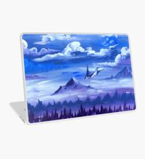 """Cotton Skies"" - Acrylic Painting Laptop Skin"