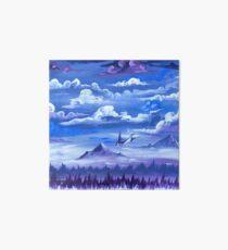 """Cotton Skies"" - Acrylic Painting Art Board"