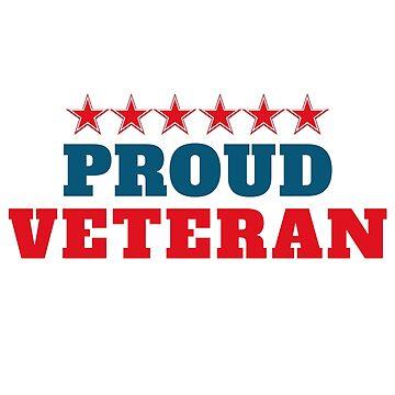 Proud Veteran Patriotic by Fun-T-Shirts