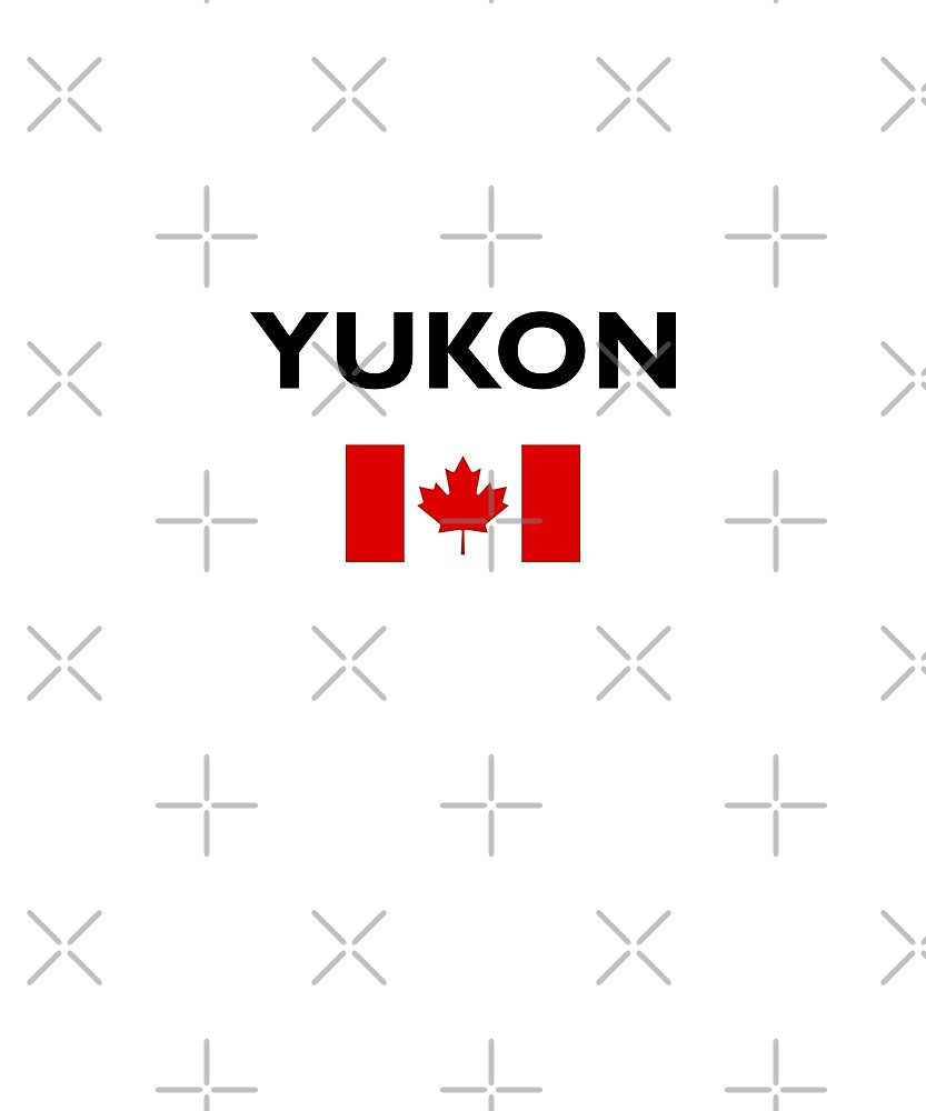 Yukon Canada Canadian Flag Color Light by TinyStarCanada