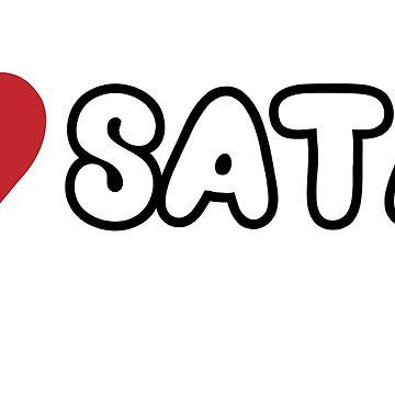 I heart satan by occultart