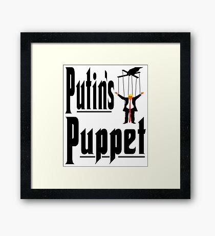 Putins Puppet Trump Framed Print