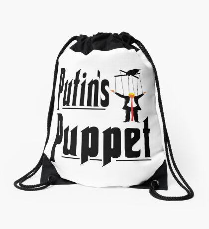 Putins Puppet Trump Drawstring Bag