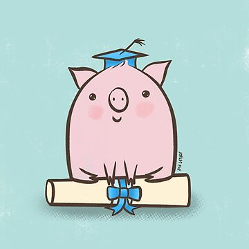 Clever Pig Graduation  by zoel