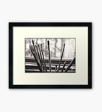 Paintbrushes Framed Print