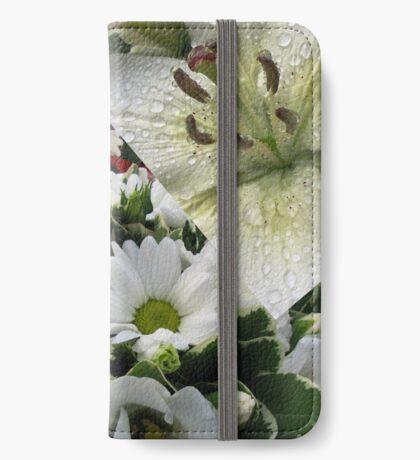 Weiße Freude - Floral Collage iPhone Flip-Case