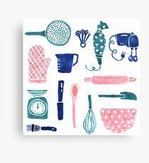 Baking Tools Pattern Canvas Print