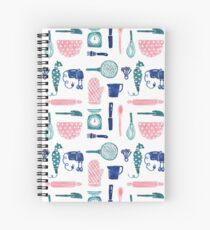Baking Tools Pattern Spiral Notebook
