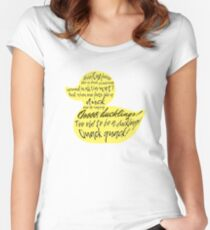 too old to be a duckling! quack quack!  Women's Fitted Scoop T-Shirt