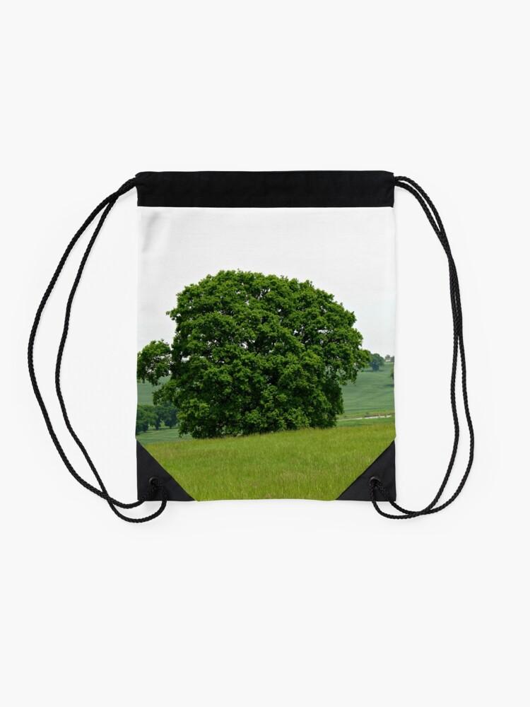 Alternative Ansicht von Hillside View - Einsamer Baum Turnbeutel
