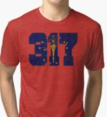 ALWAYS REPPIN' THE 317 Tri-blend T-Shirt