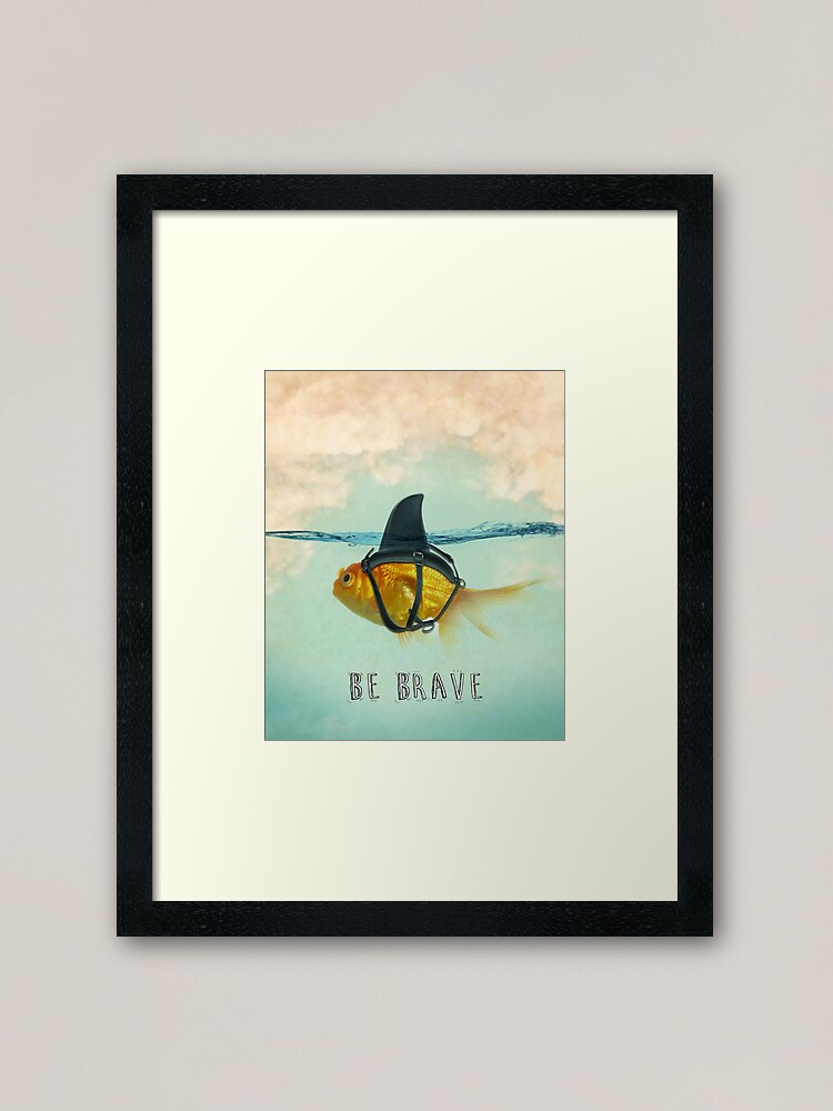 Alternate view of Be Brave - Brilliant Disguise Framed Art Print