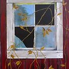 Red Barn Window by Russell Halsema