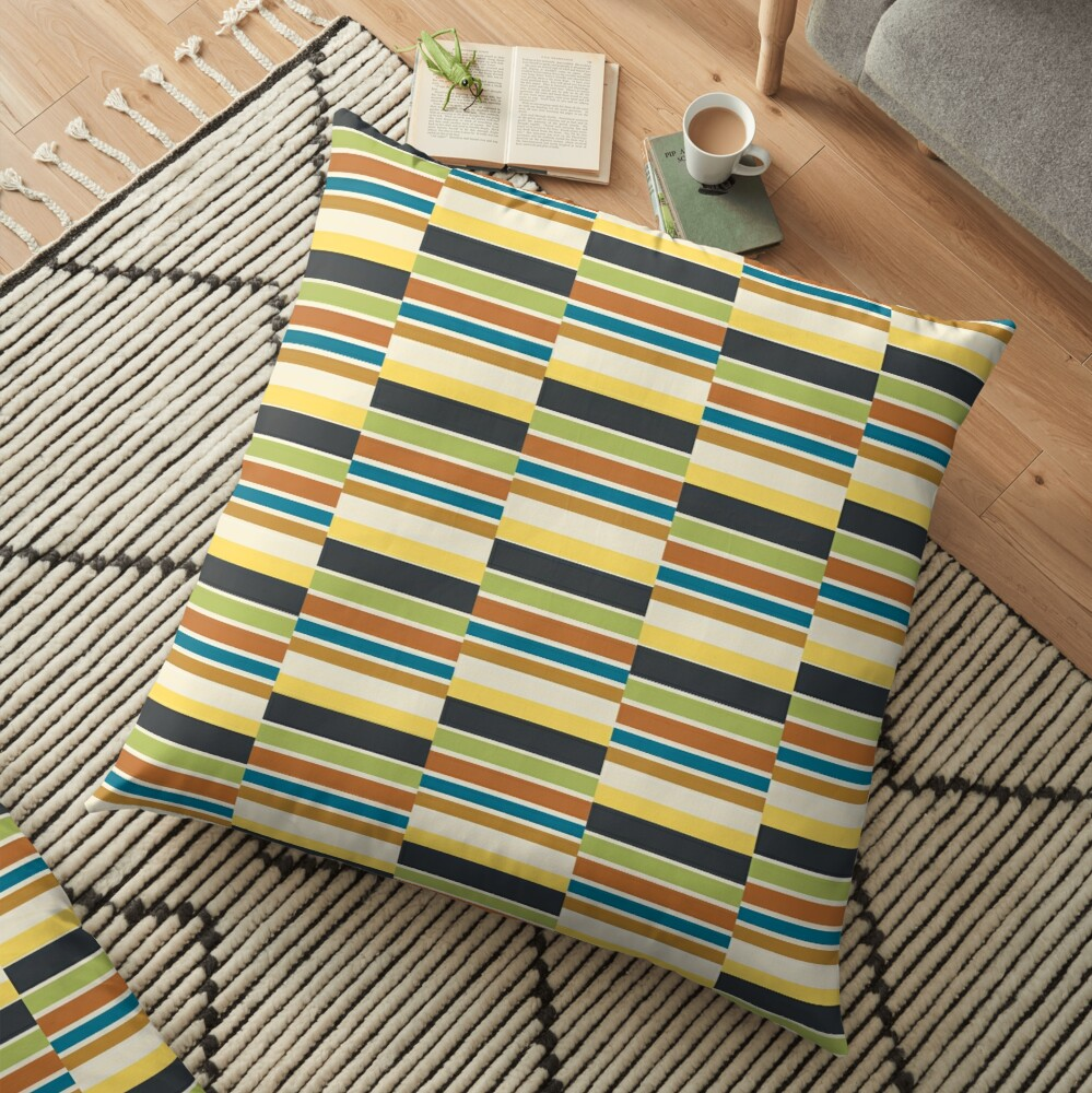 Cuba Street Stripe Floor Pillow