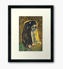The Kiss: Like Starlight Framed Print