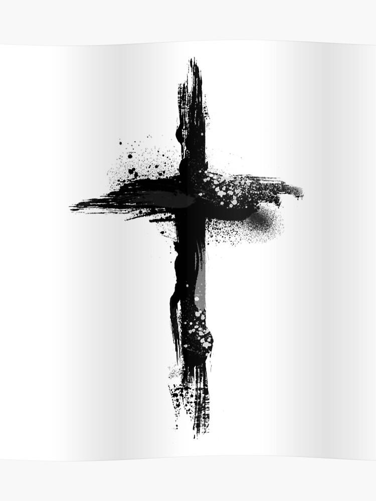 Jesus Christ On The Cross - Christian Symbol - Artistic | Poster