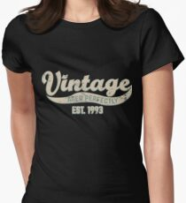 1993 Birthday Gift Vintage Est 25th Birthday 25 Yrs Old B-day Present Women's Fitted T-Shirt