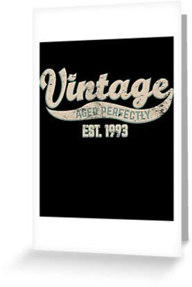 1993 Birthday Gift Vintage Est 25th 25 Yrs Old B Day Present By Modernmerch