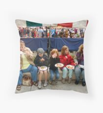 Festival food Throw Pillow